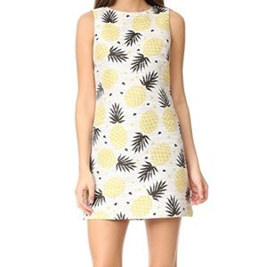 Alice + Olivia Pineapple print Clyde shift dress